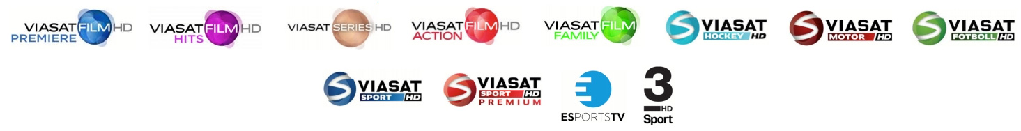 Get all Scandinavian TV channels - Viasat & Cmore